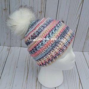 f031e6cfac2 LJ Beanie handmade crocheted teen adult hat